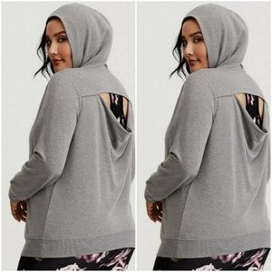 Torrid| Active Cut Out Back Hooded Sweatshirt